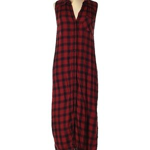 Mossimo Supply Co Sleeveless Red Flannel Dress XL